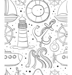 sea seamless pattern childrens background of vector image