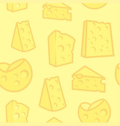 Seamless background with porous cheese vector
