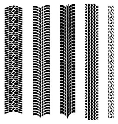 Set 5 tire tracks vector