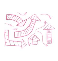 Set of hand-drawn watercolor arrows vector image