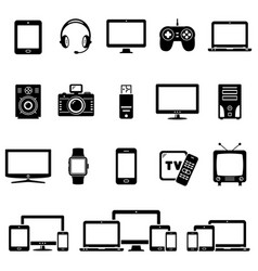 Set of modern digital devices icons vector