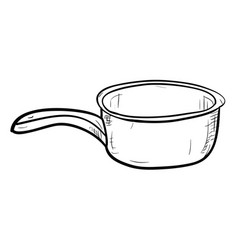 sketch of doodle bucket vector image