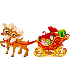 Sleigh of Santa Claus vector image