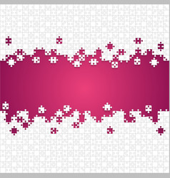 Some white puzzles pieces pink - jigsaw vector