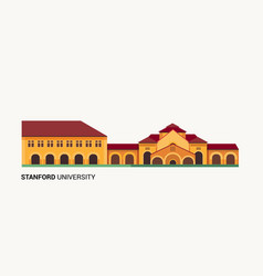 stanford university vector image