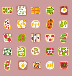 Sweets dessert isolated food isolated vector