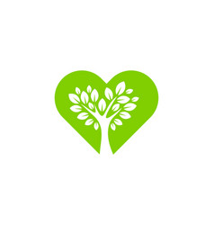 tree love logo icon design vector image