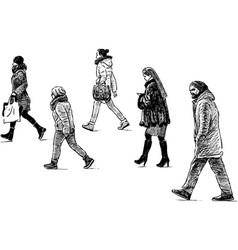 Urban pedestrians vector