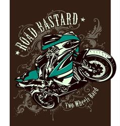 Vintage image sport motorbike vector