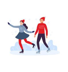 winter sport activities friends skiing together vector image