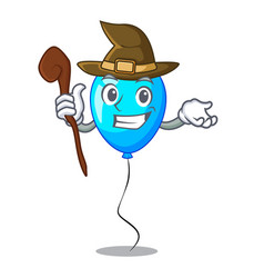 Witch party balloon blue mascot the isolated vector