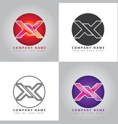 X company logo design inspiration vector