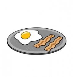 bacon eggs vector image vector image