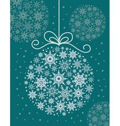 Christmas decorative ball vector image vector image