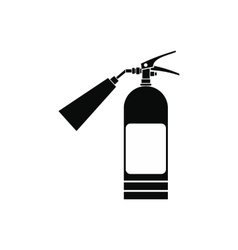 Fire extinguisher black simple icon vector image