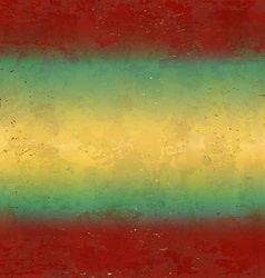 Grungy red and yellow background vector image