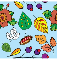leaves print vector image vector image