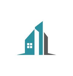 modern building realty company logo vector image vector image