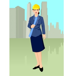 Woman Architect vector image vector image