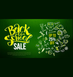 back to school sale lettering vector image