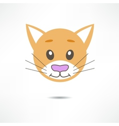 Cat smiles vector image vector image