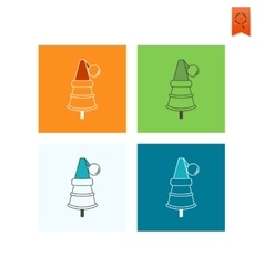 Christmas Tree in a Hat vector image vector image