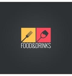 food an drinks menu design background vector image