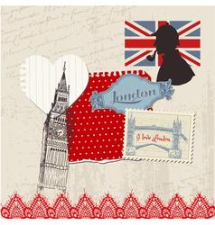Scrapbook Design Elements - London Vintage Set vector image
