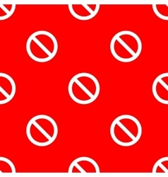 Seamless road sign pattern vector image vector image