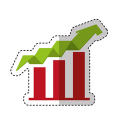 arrow growth isolated icon vector image vector image