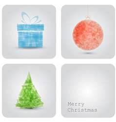 christmas decoration card vector image vector image