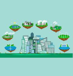 concept of alternative energy green power vector image vector image