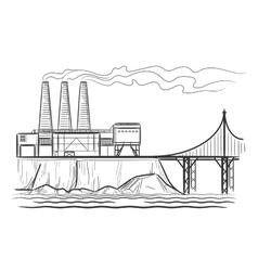Factory industrial landscape vector image