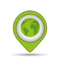 globe earth pin map ecology vector image