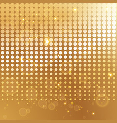 gold halftone background template vector image vector image