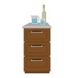 kitchen furniture wooden vector image vector image