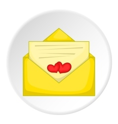 Love letter icon cartoon style vector image vector image