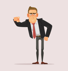 man businessman boss office worker pointing finger vector image vector image