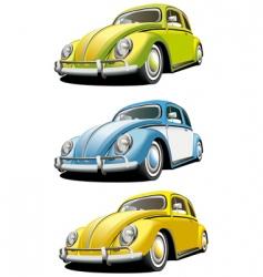 vintage car set vector image vector image