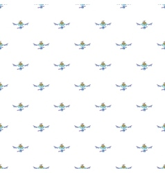 Drone pattern cartoon style vector image vector image