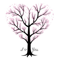 Love tree heart shaped vector image vector image