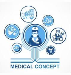 medical nurse concept vector image vector image