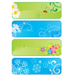 set of 4 different seasonal banners vector image vector image