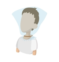 A man with a plastic bag over his head icon vector