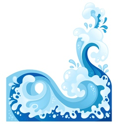 abstract sea wave background water splash isolated vector image