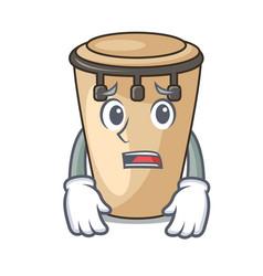 Afraid conga mascot cartoon style vector