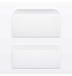 Blank envelopes on gray background vector image