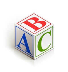 brick abc vector image