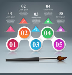 Brush icon business infographics vector