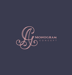 Calligraphic monogram ag vector
